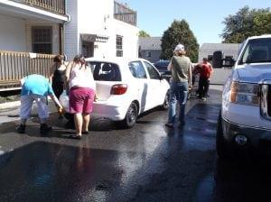 Lave-auto réalisé dans le cadre de la journée internationale de l'alphabétisation - 8 septembre 2014